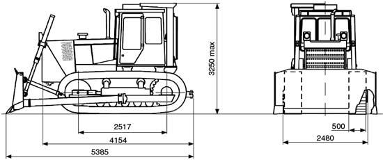 габаритные размеры бульдозера Б10М.08