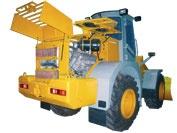 Удобный доступ к двигателю и радиатору фронтального погрузчика